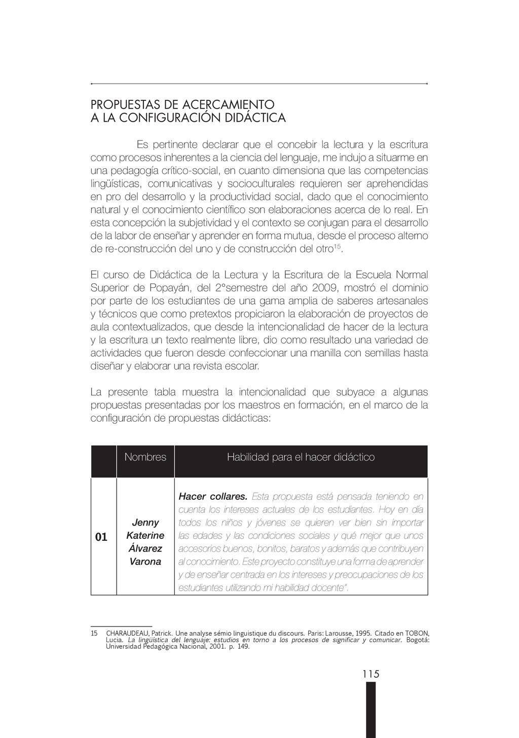 115 PROPUESTAS DE ACERCAMIENTO A LA CONFIGURACI...