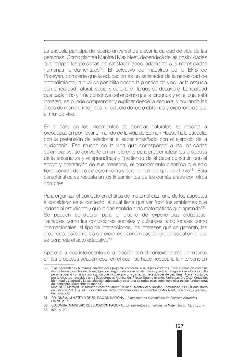 127 La escuela participa del sueño universal de...
