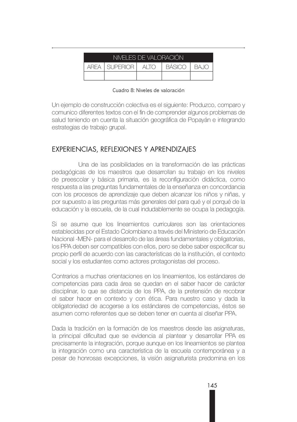 145 NIVELES DE VALORACIÓN AREA SUPERIOR ALTO BÁ...