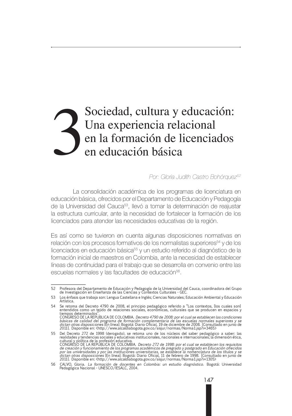 147 3Sociedad, cultura y educación: Una experie...