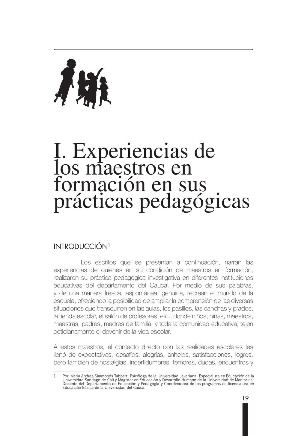 19 I. Experiencias de I. Experiencias de los ma...