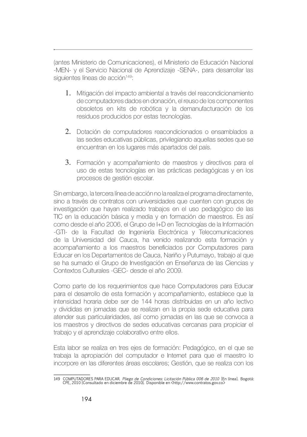 194 (antes Ministerio de Comunicaciones), el Mi...