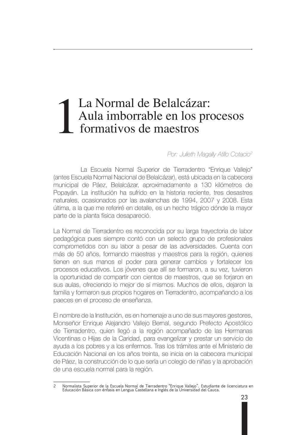 23 1 1 La Normal de Belalcázar: La Normal de Be...