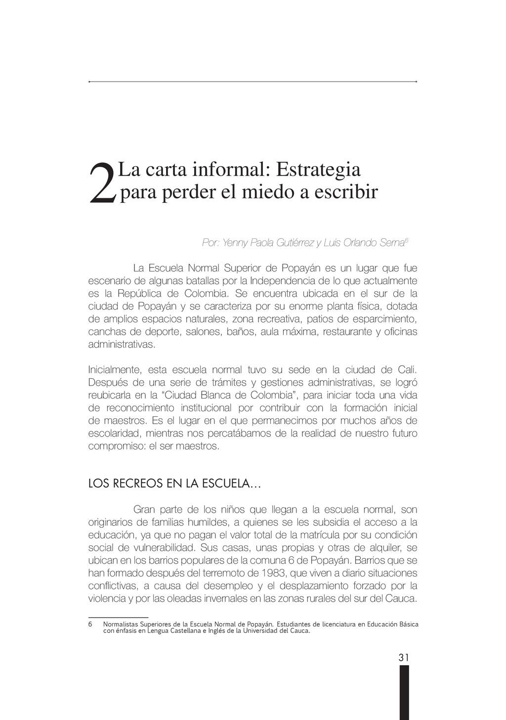 31 2 2La carta informal: Estrategia La carta in...