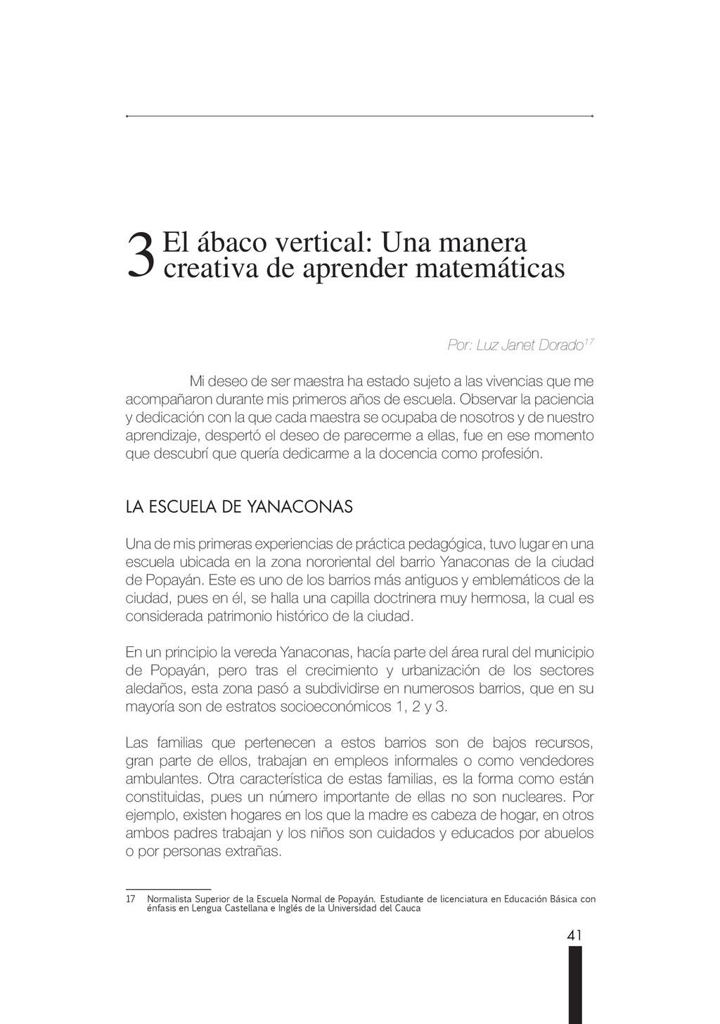 41 3 3 El ábaco vertical: Una manera El ábaco v...