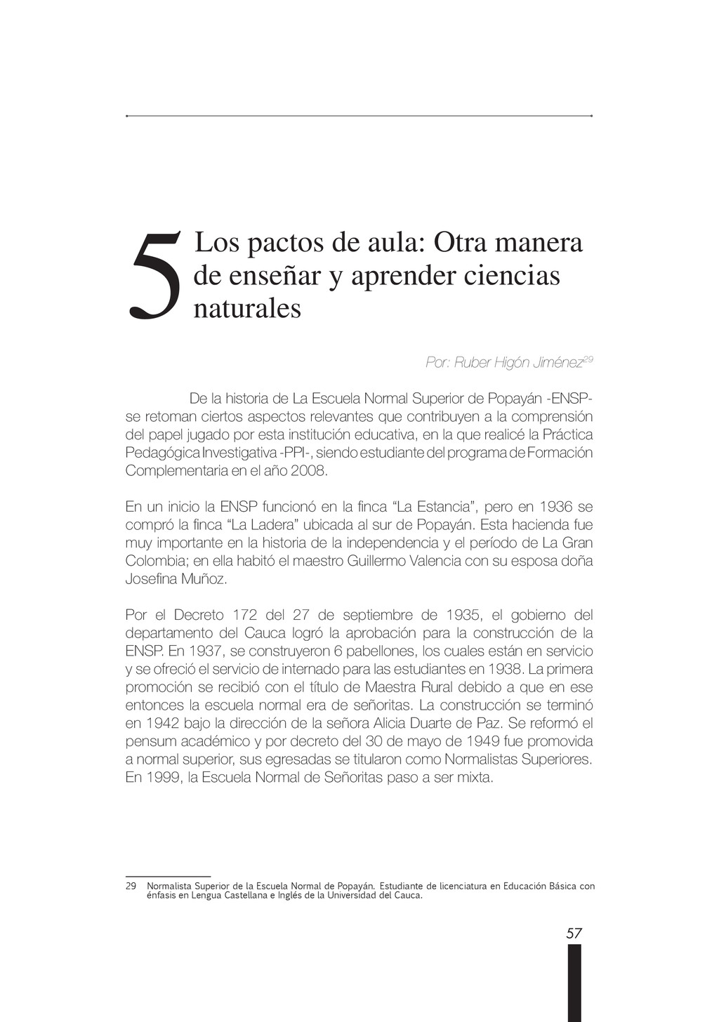 57 5 5 Los pactos de aula: Otra manera de enseñ...