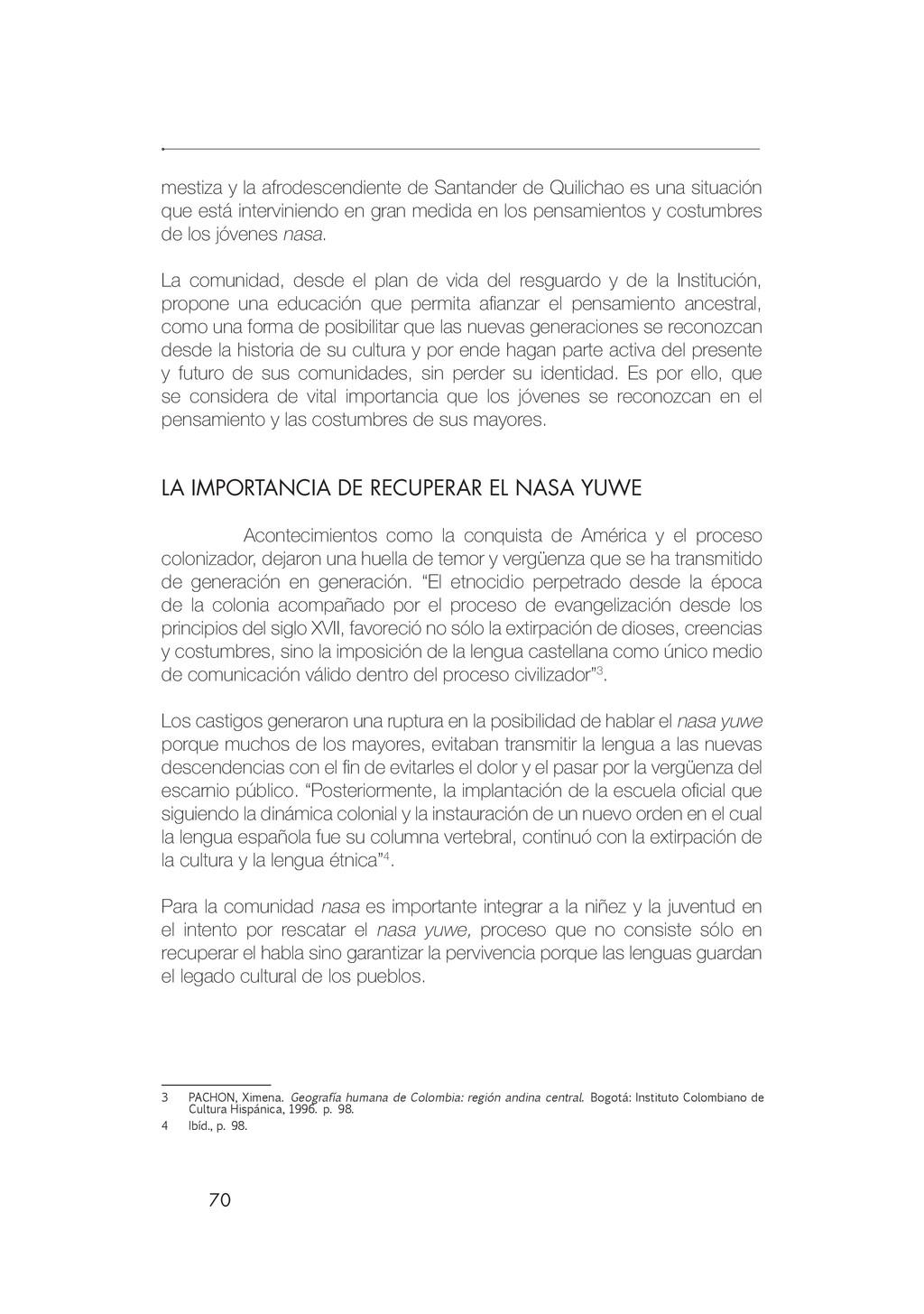 70 mestiza y la afrodescendiente de Santander d...
