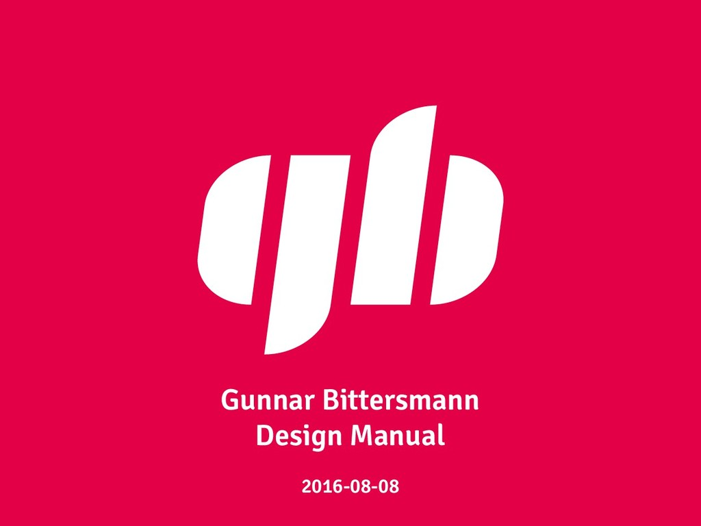 Gunnar Bittersmann Design Manual 2016-08-08