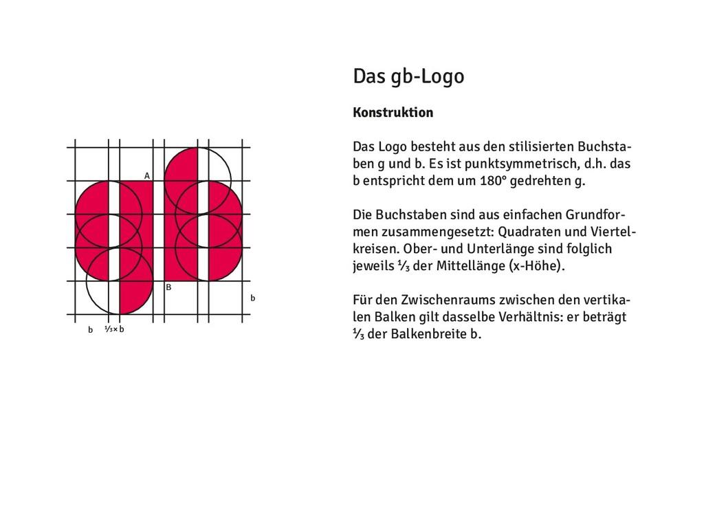 Das gb-Logo Konstruktion Das Logo besteht aus d...