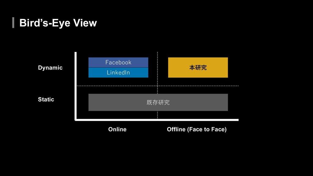 Bird's-Eye View Static Dynamic Online Offline (...