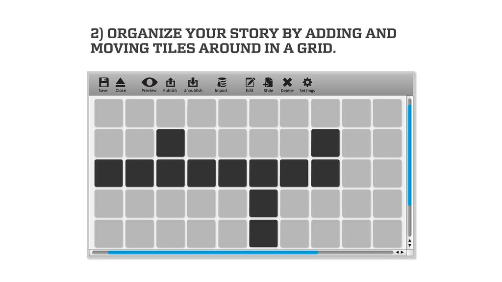 Edit Slide Delete Settings Preview Publish Impo...
