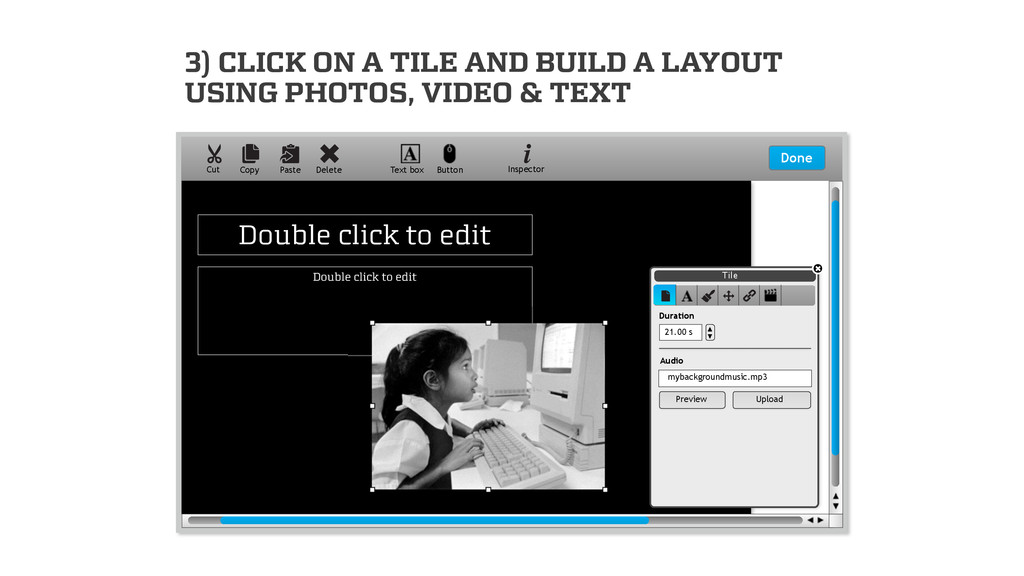 3) CLICK ON A TILE AND BUILD A LAYOUT USING PHO...