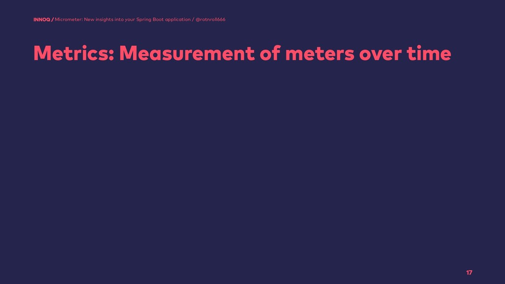 Metrics: Measurement of meters over time 17 Mic...