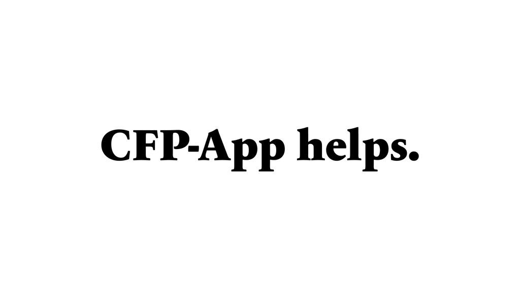 CFP-App helps.