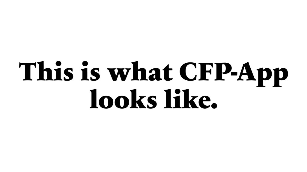 This is what CFP-App looks like.