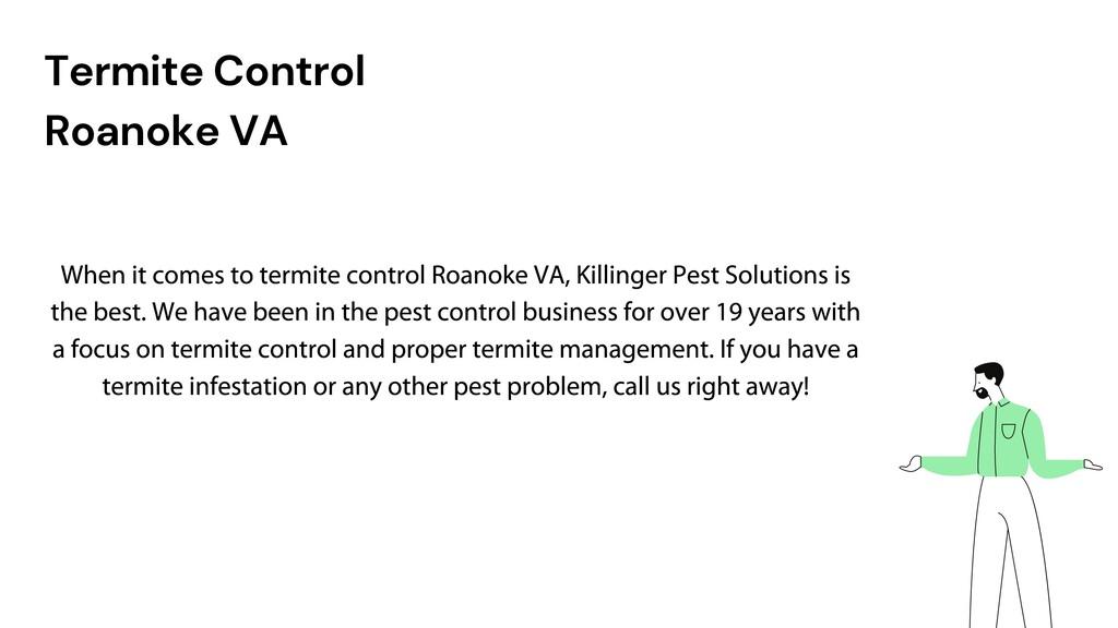 Termite Control Roanoke VA Copy a sticky note, ...