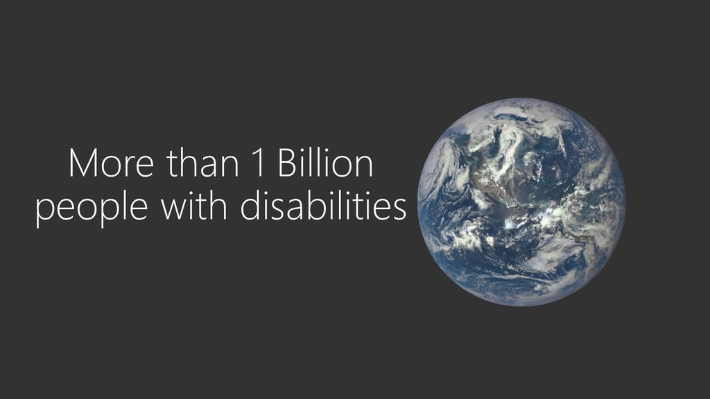 More than 1 Billion people with disabilities