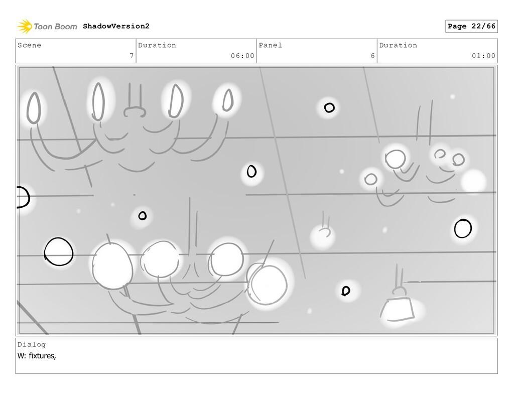 Scene 7 Duration 06:00 Panel 6 Duration 01:00 D...