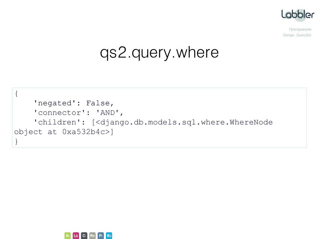 Препарируем Django: QuerySet qs2.query.where { ...