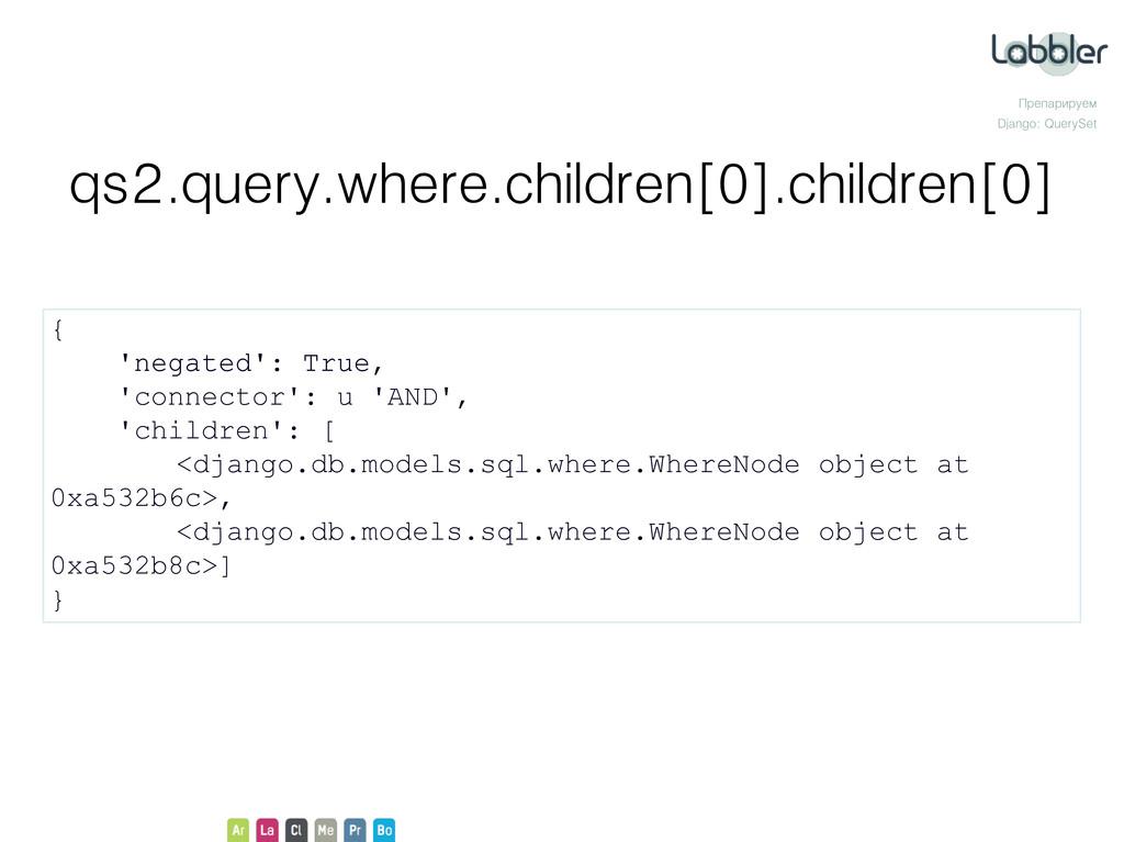 Препарируем Django: QuerySet qs2.query.where.ch...