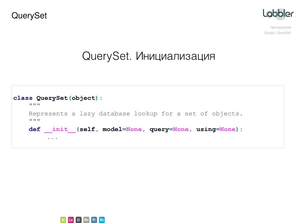 QuerySet Препарируем Django: QuerySet QuerySet....
