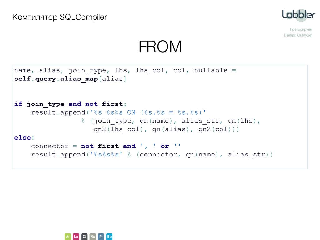 Компилятор SQLCompiler Препарируем Django: Quer...