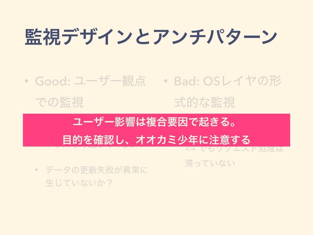 ࢹσβΠϯͱΞϯνύλʔϯ • Good: Ϣʔβʔ؍ Ͱͷࢹ • ϦΫΤετΛૹ͔ͬͯ...