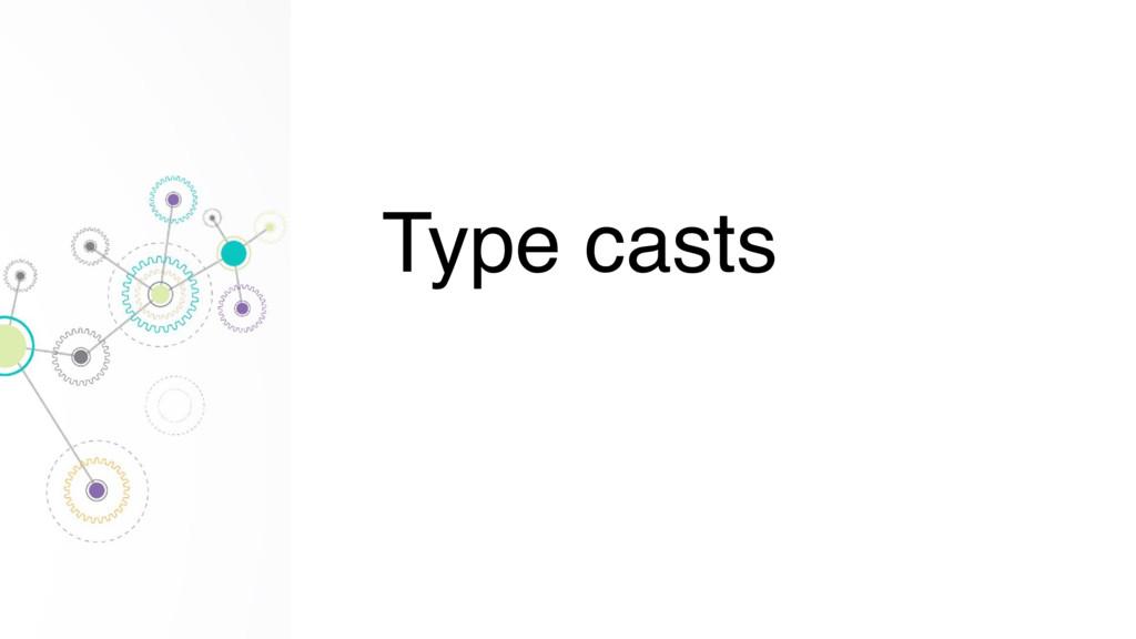 Type casts