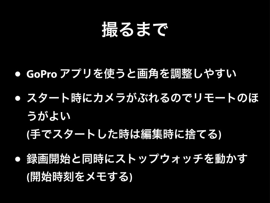 Δ·Ͱ • GoPro ΞϓϦΛ͏ͱը֯Λௐ͍͢͠ • ελʔτʹΧϝϥ͕ͿΕΔͷͰ...