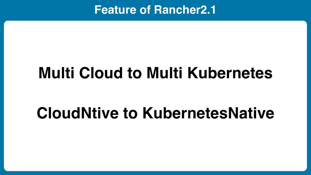 Feature of Rancher2.1 Kubernetes Clusters Creat...