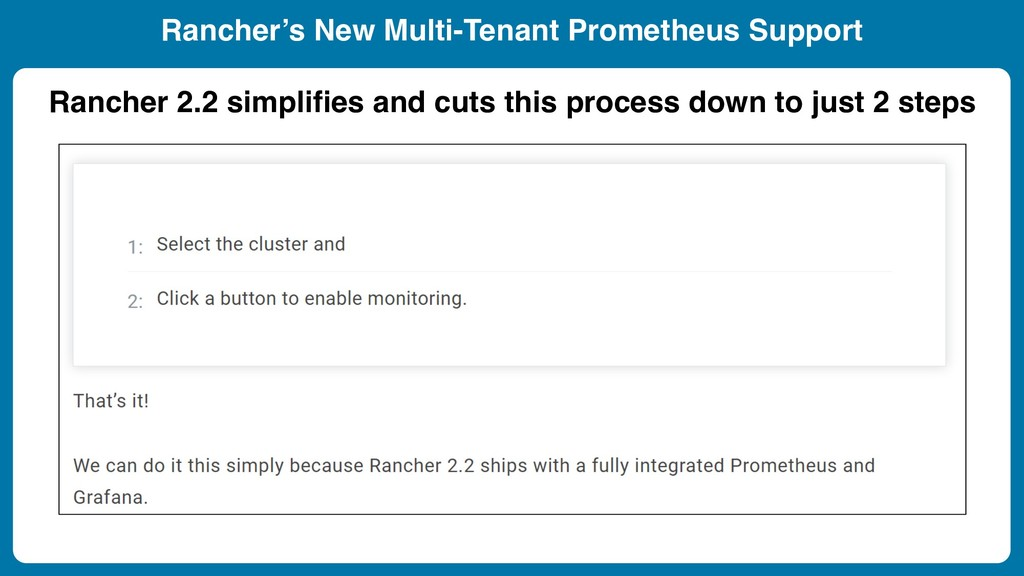 Rancher 2.2 simplifies and cuts this process do...