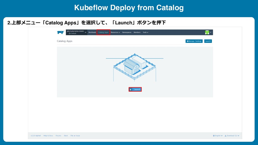 Kubeflow Deploy from Catalog 2. Catalog A...