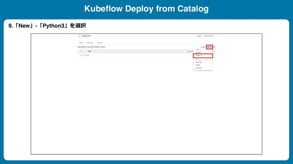 Kubeflow Deploy from Catalog 9.New-Python3...