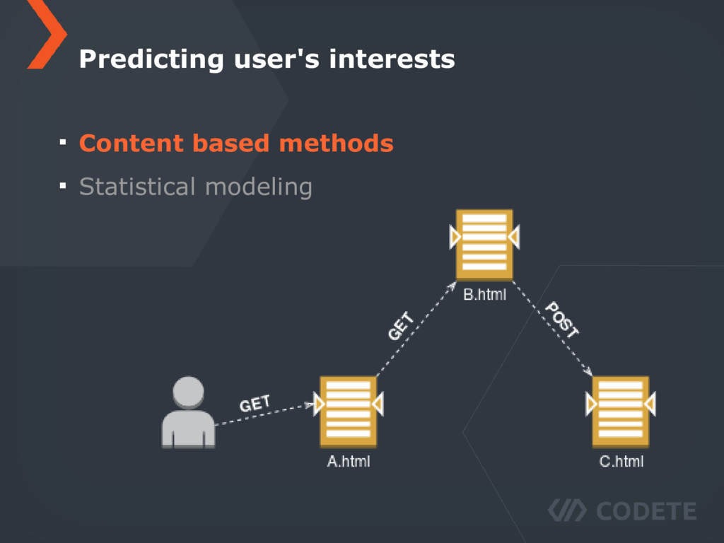 Content based methods Statistical modeling Pred...