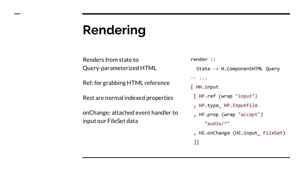 Rendering Renders from state to Query-parameter...