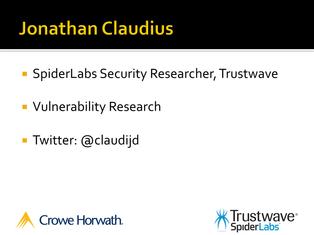 ¡  SpiderLabs	