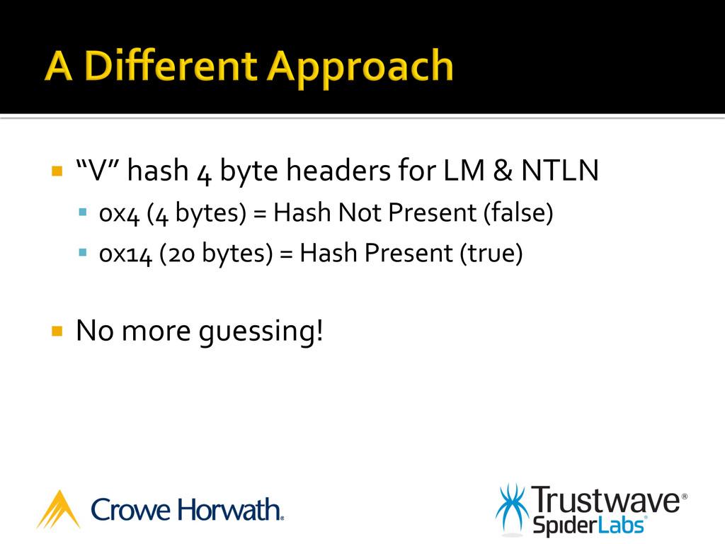 """¡ """"V"""" hash 4 byte headers for..."""
