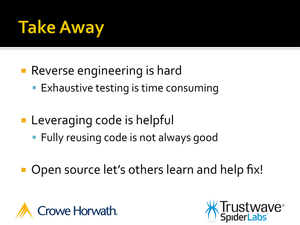 ¡ Reverse engineering is hard  §...