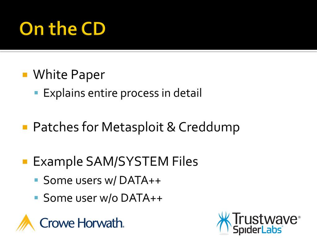 ¡ White Paper  § Explains entire...