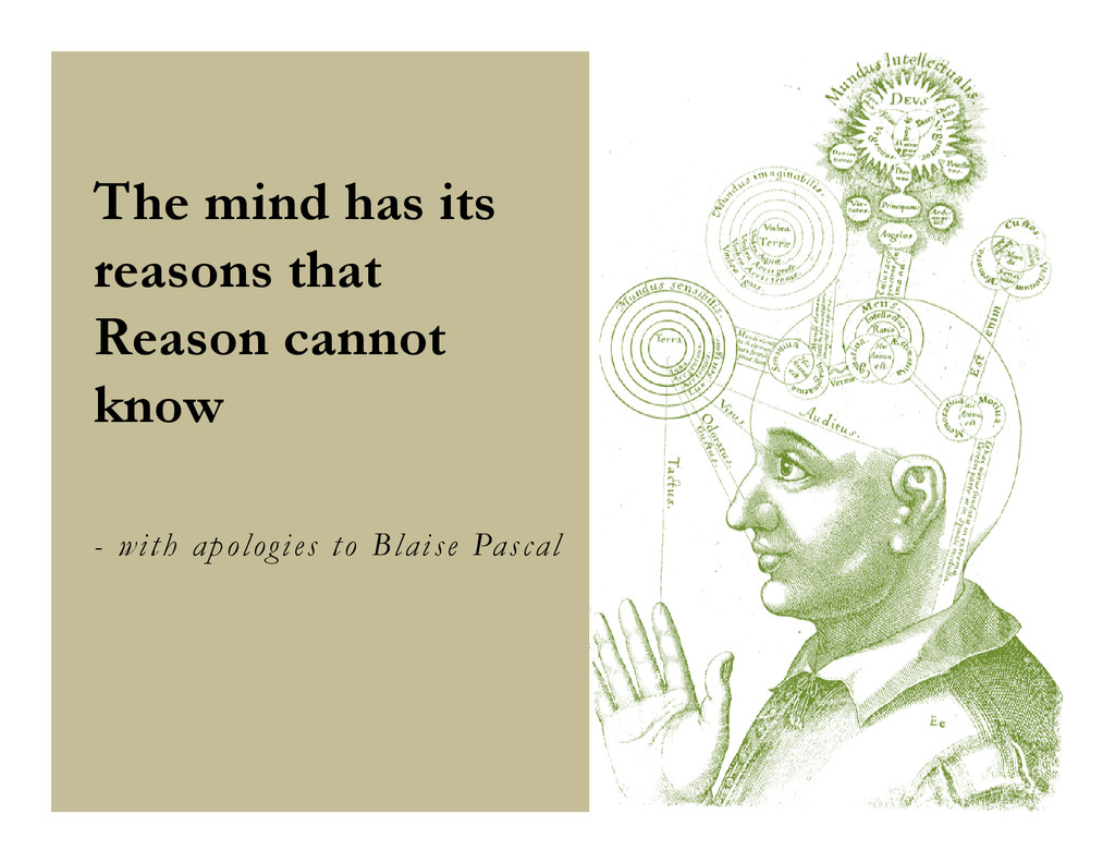 The mind has its reasons that Reason cannot kno...