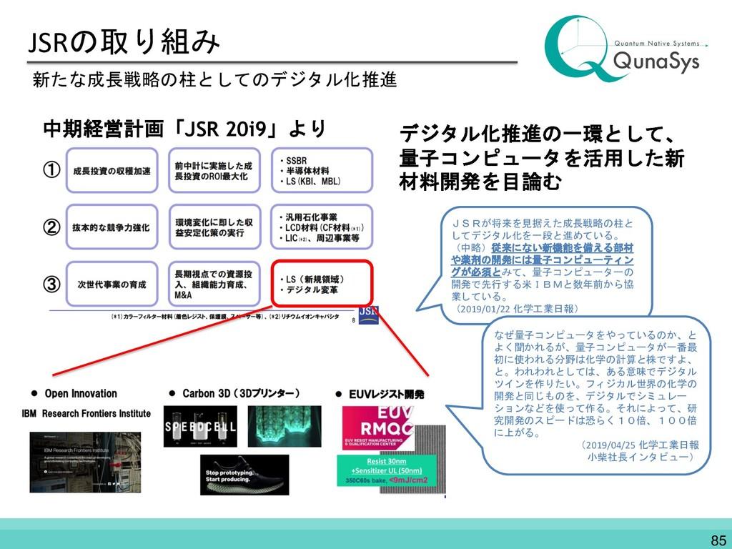 JSRの取り組み 新たな成長戦略の柱としてのデジタル化推進 中期経営計画「JSR 20i9」よ...