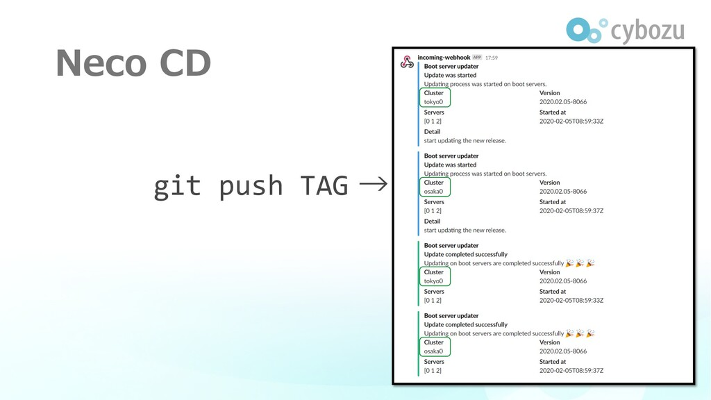 Neco CD git push TAG →