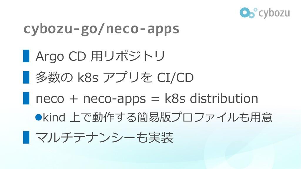 cybozu-go/neco-apps ▌Argo CD ⽤リポジトリ ▌多数の k8s アプ...
