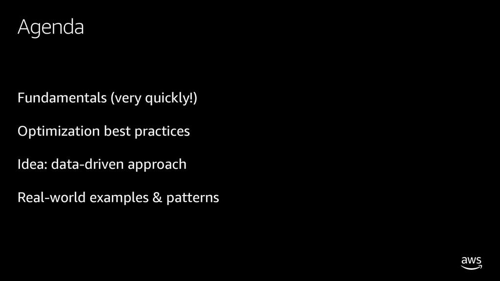 Fundamentals (very quickly!) Optimization best ...