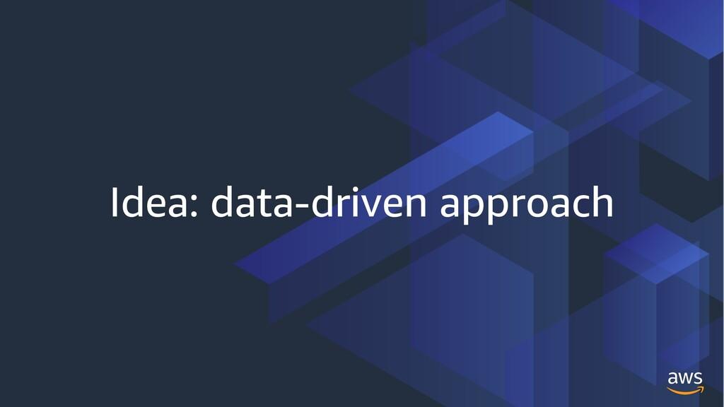 Idea: data-driven approach