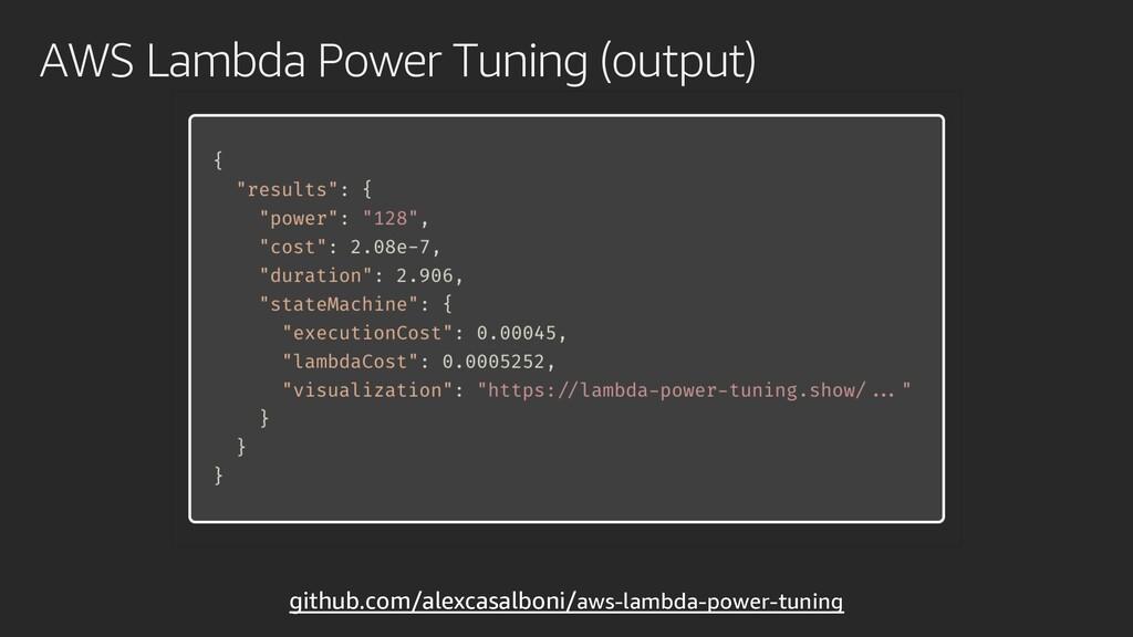 AWS Lambda Power Tuning (output) github.com/ale...