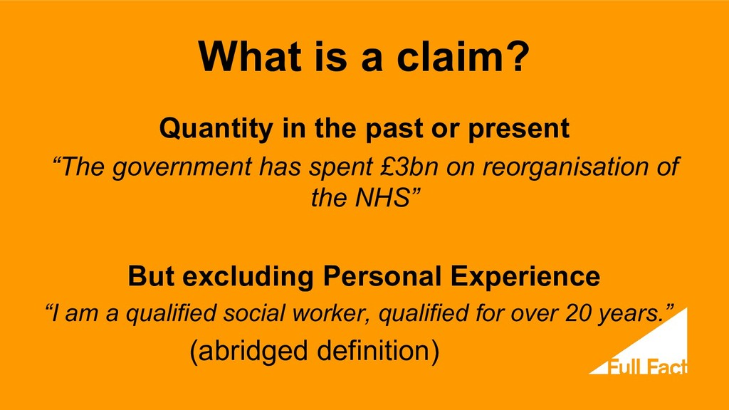 What is a claim? Quantity in the past or presen...