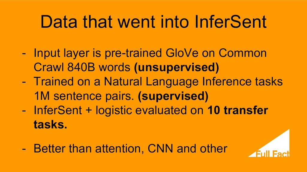 Data that went into InferSent - Input layer is ...
