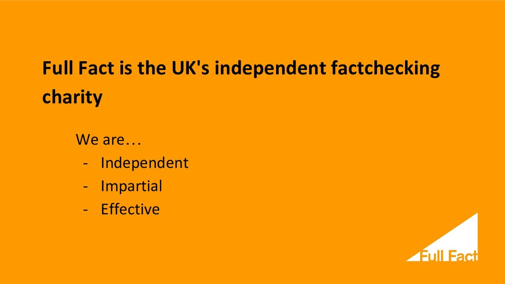 Full Fact is the UK's independent factchecking ...
