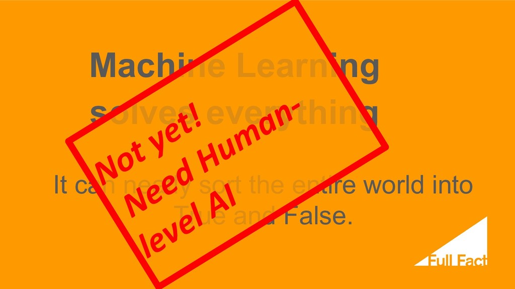 Machine Learning solves everything It can neatl...